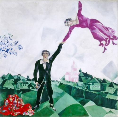 """""""Passeio"""", de Marc Chagall"""